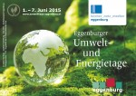 Titelseite Programmfolder Eggenburger Umwelt- & Energietage mit Weltkugel