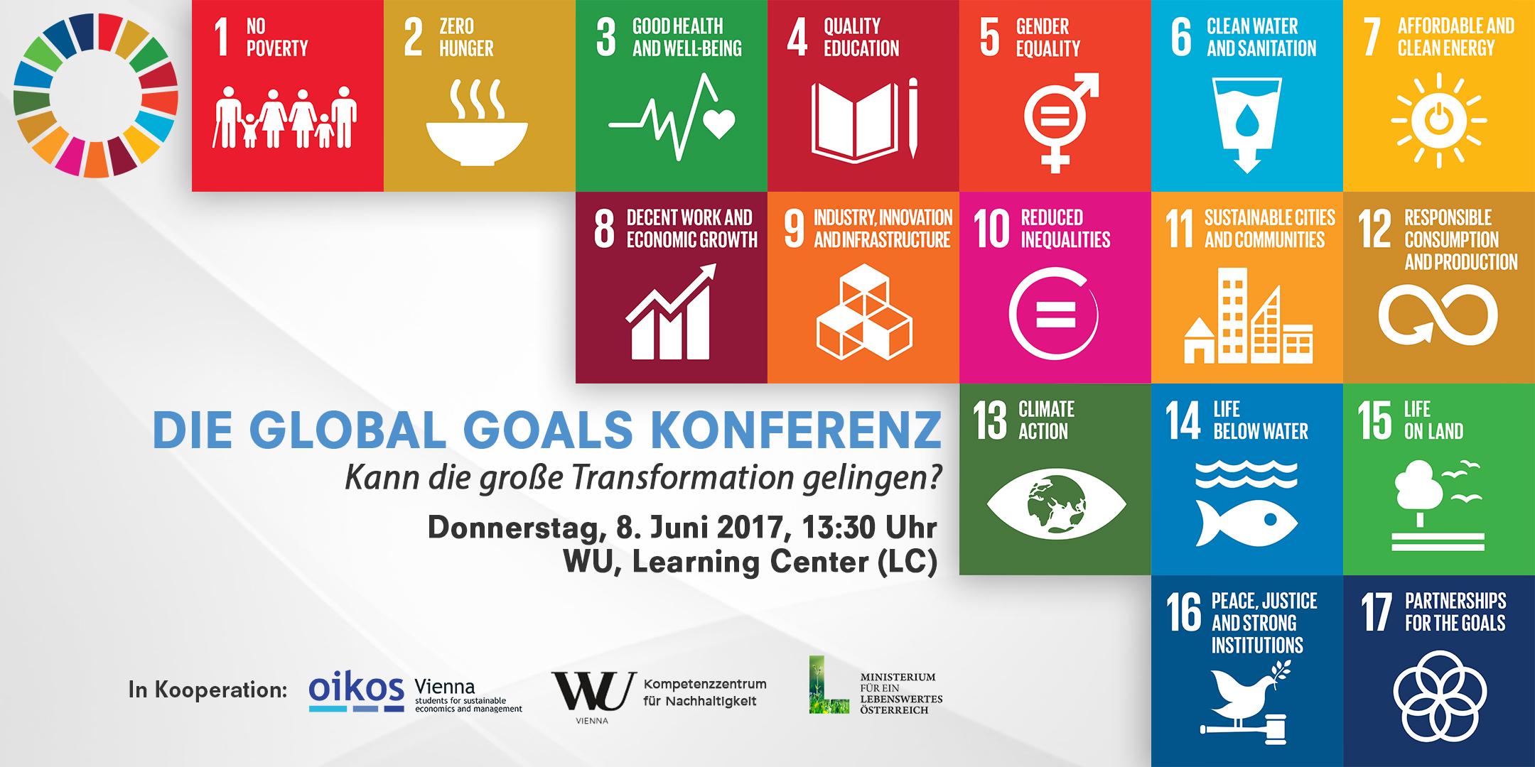 Die Global Goals Konferenz - Kann die große Transformation gelingen? 1