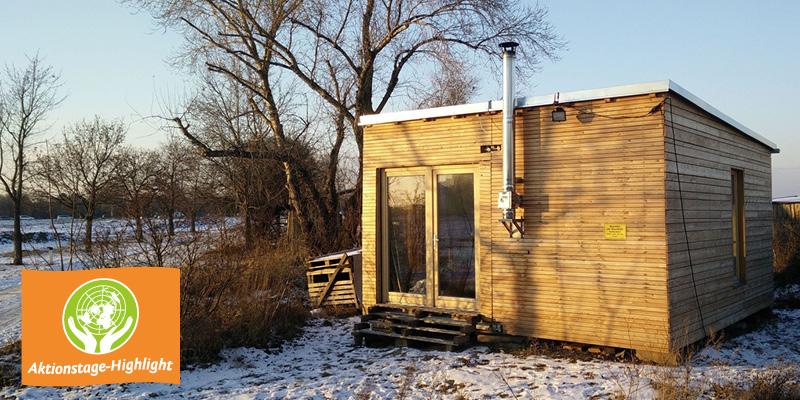 Open days in der Q-Box, dem nachhaltigen und mobilen Niedrigstenergiehaus