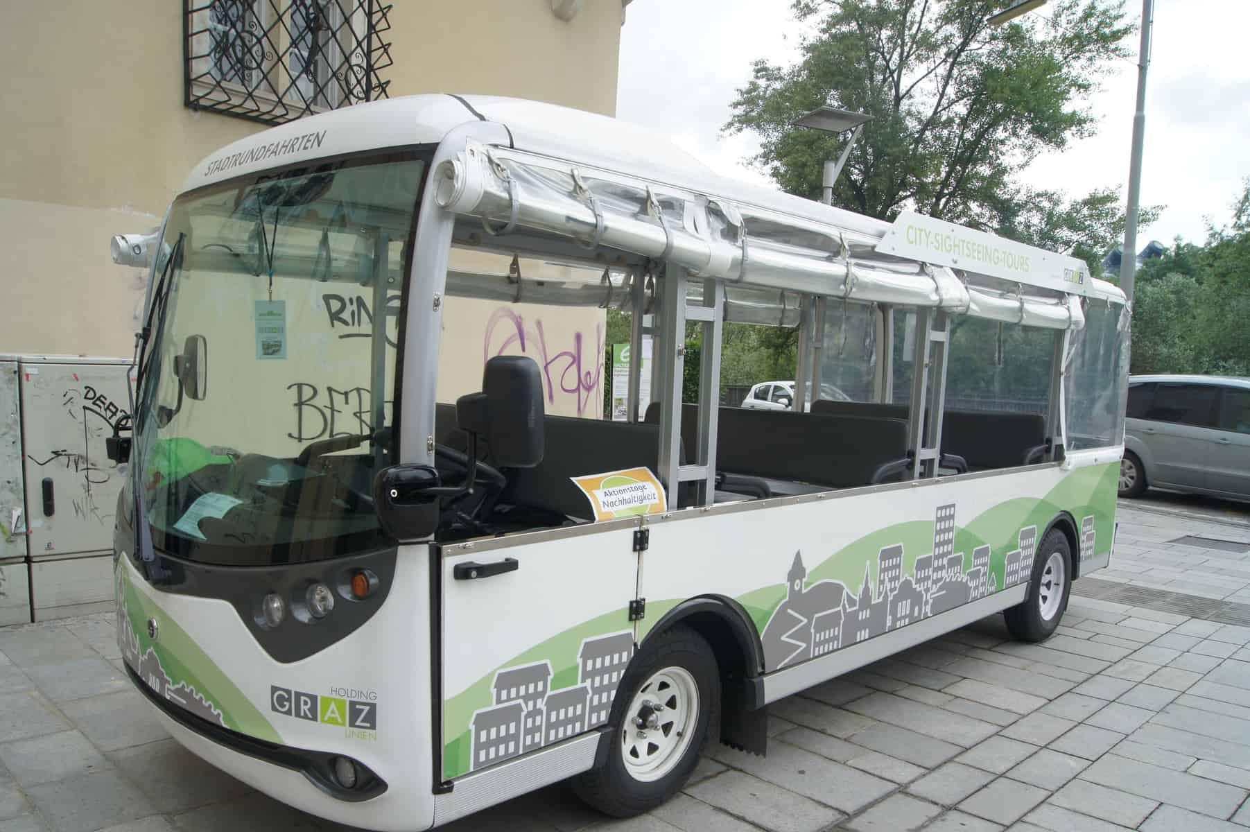 Stadtrundfahrten in Graz mit dem Elektrobus 8