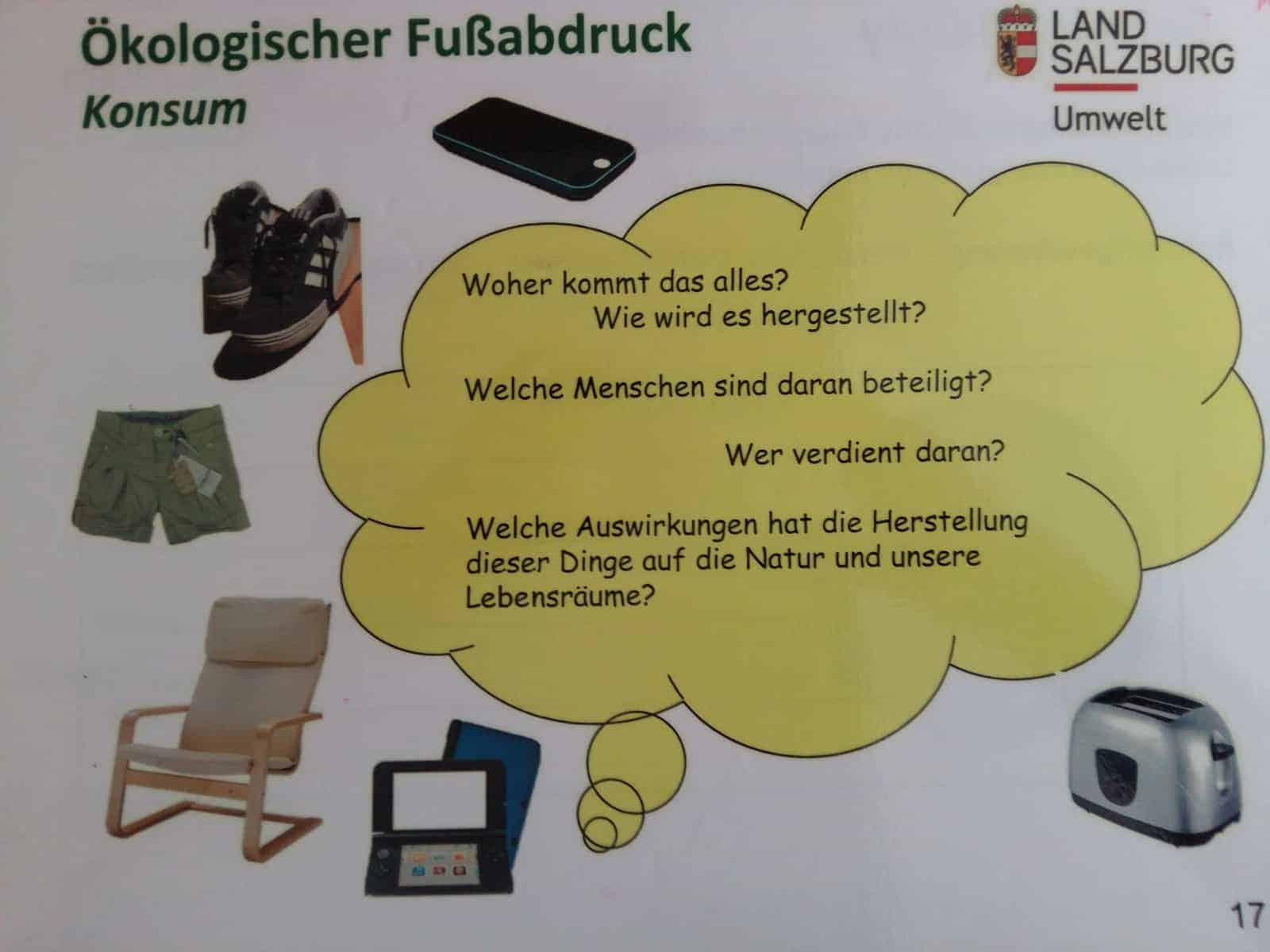Workshop Ökologischer Fußabdruck - Verantwortung für eine begrenzte Welt 4