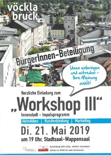 Agenda 21 Vöcklabruck: Workshop zur Innenstadtentwicklung 3