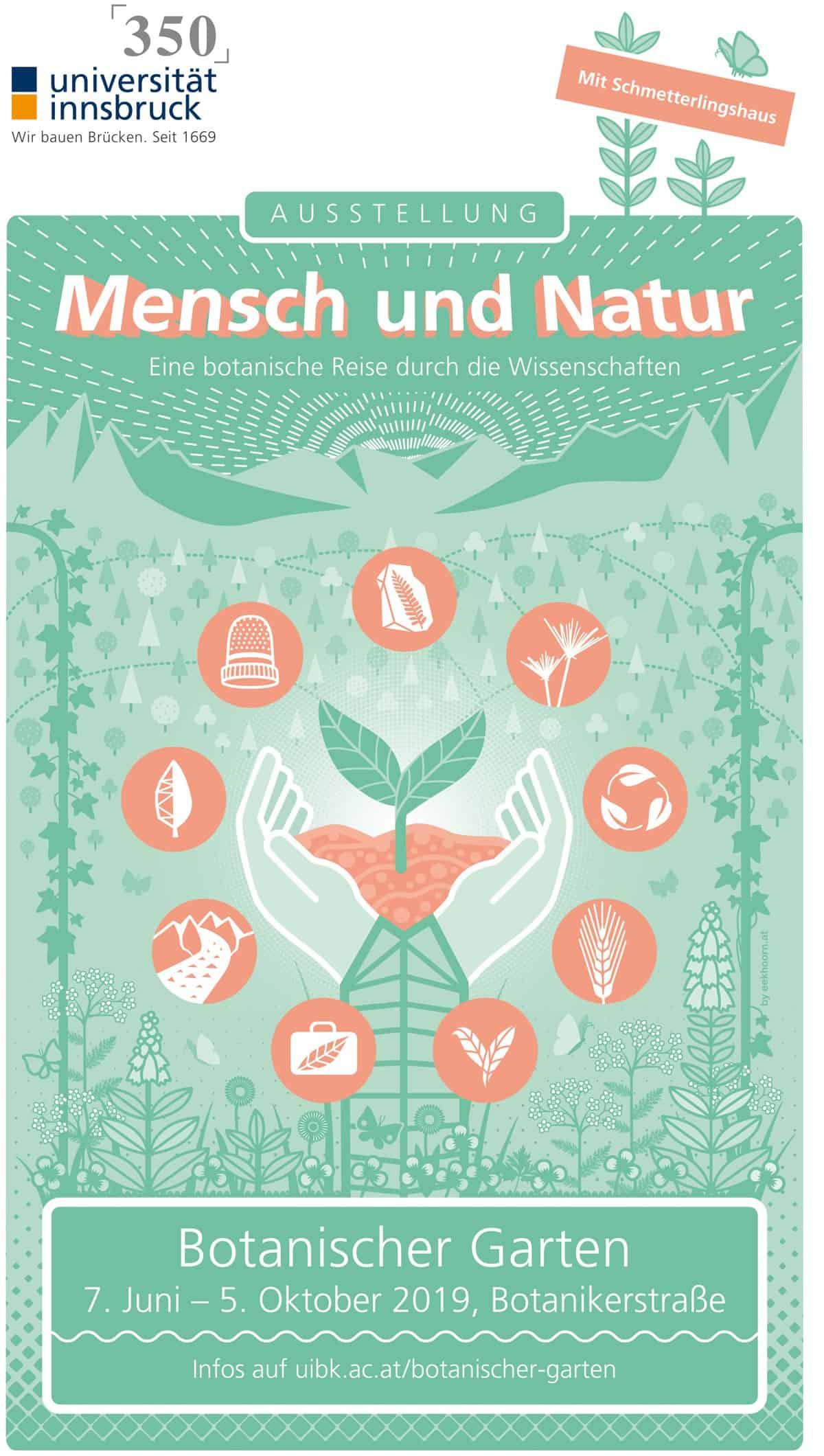 Mensch und Natur – eine botanische Reise durch die Wissenschaften: Jubiläumsausstellung im Botanischen Garten – mit Schmetterlingshaus 25
