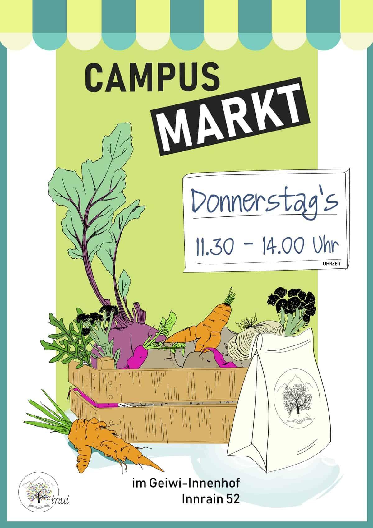 Campus-Markt von INUI jeden Donnerstag an der Haupt-Uni Innsbruck 69