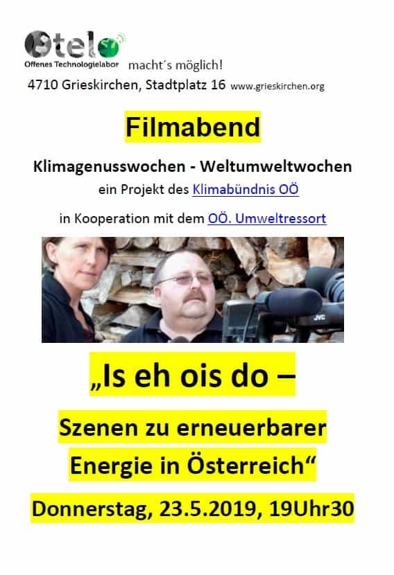 """Filmabend im OTELO Grieskirchen: """"Is eh ois do – Szenen zu erneuerbarer Energie in Österreich"""" 1"""